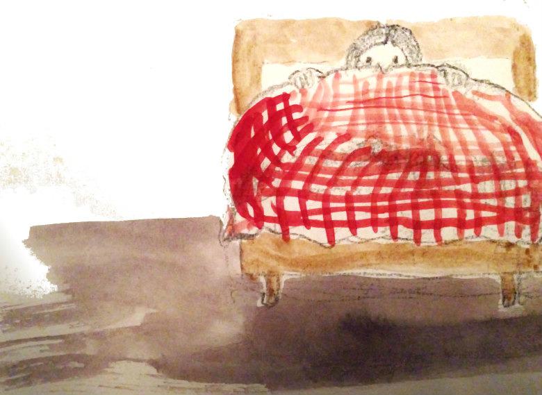 Antonia im Bett - Wetter im Anzug
