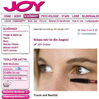 JOY Online Artikel Claudia Casagrande