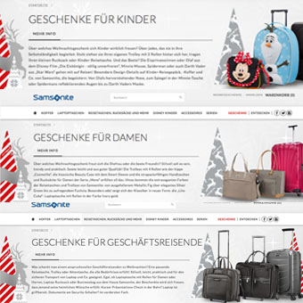 SAMSONITE Koffer Weihnachtsaktion